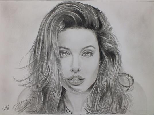 Angelina Jolie par gomme